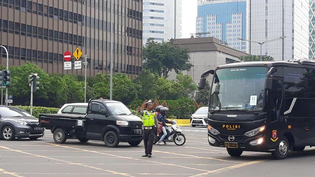 Polisi Berlakukan Buka-Tutup Thamrin Selama Syuting 22 Menit