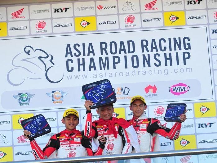 Para pebalap AHRT sapu bersih podium di hari kedua ARRC Australia (dok.AHRT)