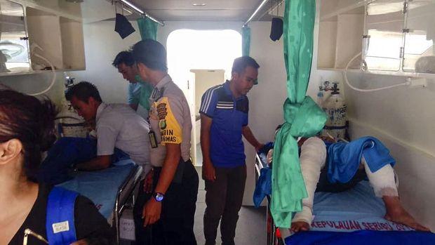 Kapal Dishub Kepulauan Seribu Meledak, 9 Orang Luka-luka