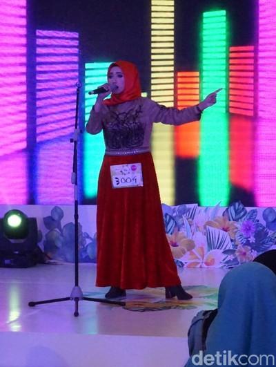 Fenny Chairani, peserta audisi Sunsilk Hijab Hunt 2018 Medan. Foto: Daniel/Wolipop