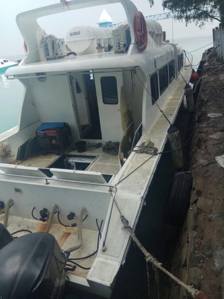 Meledak, Kapal Dishub ke Kepulauan Seribu untuk Bina Personel