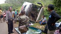 Bus IPB Terguling di Sukabumi, Penumpang Selamat