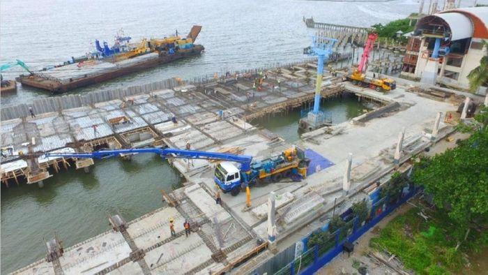 Pembangunan Arena Jetski untuk Asian Games di Ancol. (dok. Kementerian PUPR)