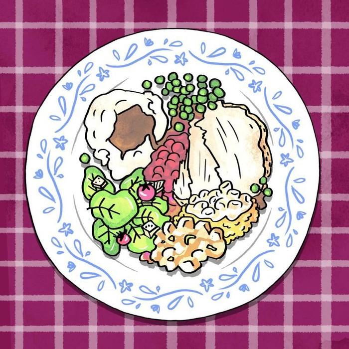 Setiap kali berbuka puasa dan sahur hidangan minimal harus ada salah satu jenis yang berasal dari 4 kelompok makanan yaitu makanan pokok, lauk-pauk, sayur serta buah. Foto: Cosmopolitan/AmandaBehrens
