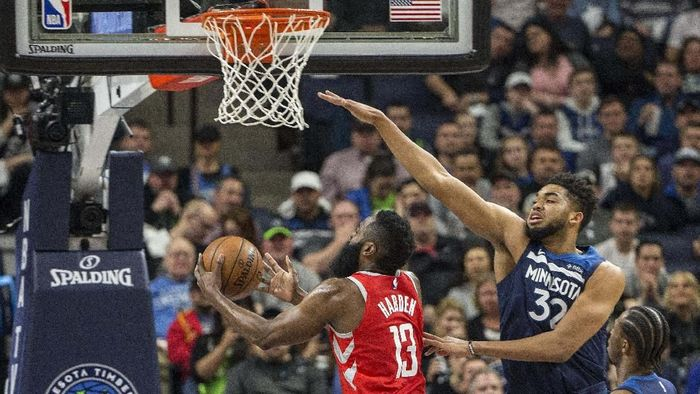 Houston Rockets kalah dari Minnesota Timberwolves di gim ketiga (Jesse Johnson-USA TODAY Sports)