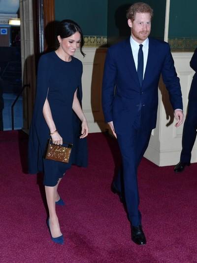 Meghan Markle dan Pangeran Harry di Perayaan Ulang tahun Ratu Elizabeth II. Foto: Dok. Getty Images