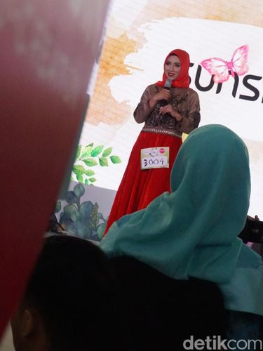 Fenny Chairani peserta audisi Sunsilk Hijab Hunt 2018 Medan.
