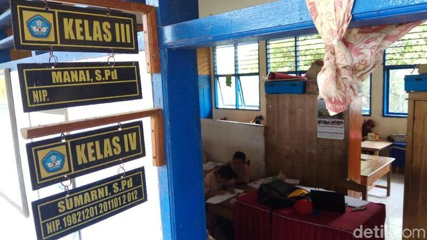Kondisi ruang kelas siswa SD Umar Bakri.