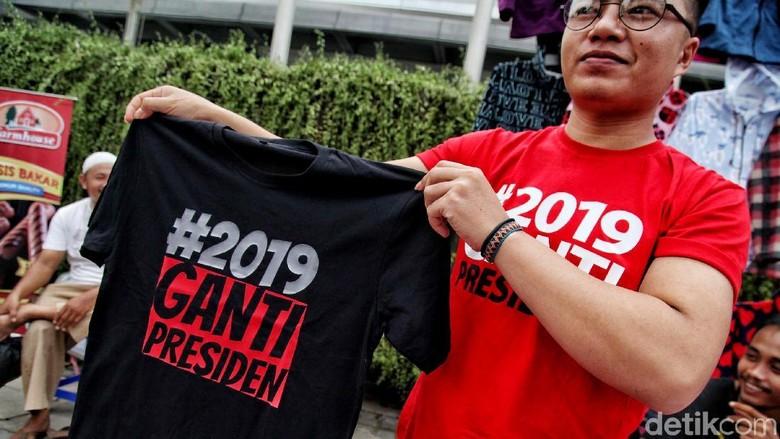 Kaus #2019GantiPresiden Ramai Dijual di CFD