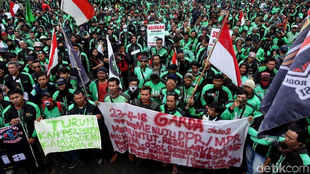 Kemenhub: Driver Ojol, Tolong Jangan Demo Saat Asian Games