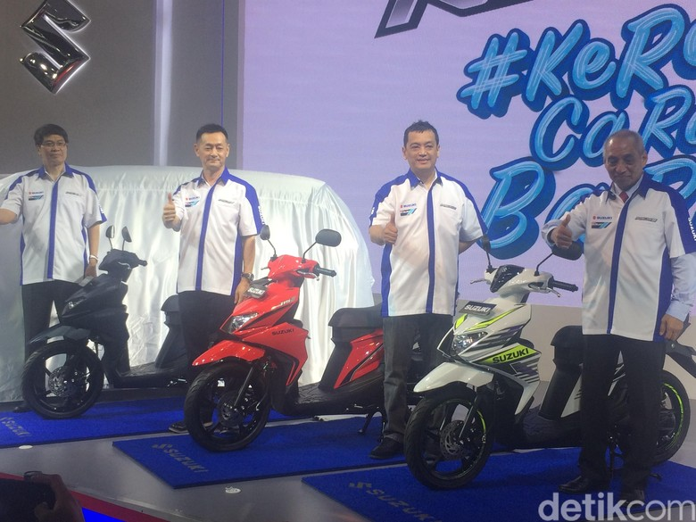 Suzuki Nex Generasi Baru meluncur di arena IIMS 2018. Foto: Khairul Imam Ghozali