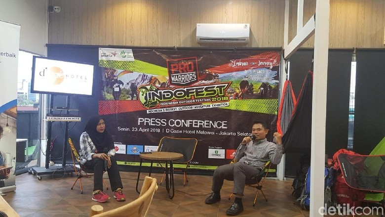 Foto: Konferensi pers Indofest 2018 (Syanti Mustika/detikTravel)