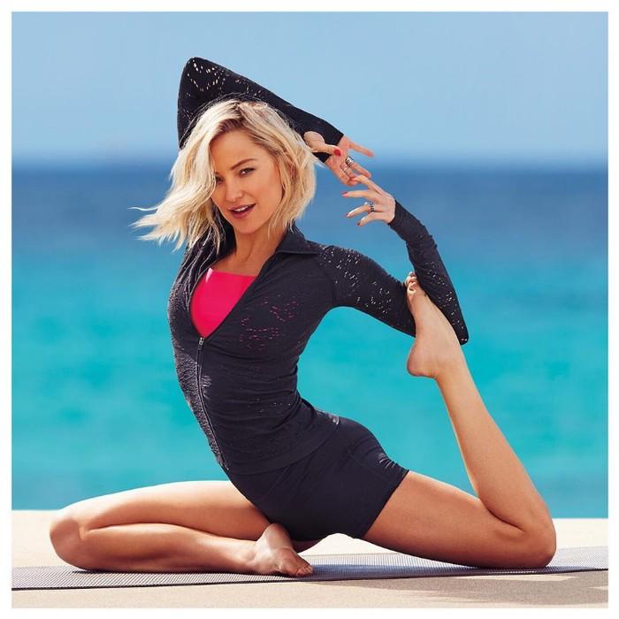 Namun yang bikin kagum adalah kelenturan dan fleksibilitas tubuh Kate Hudson. (Foto: instagram/KateHudson)