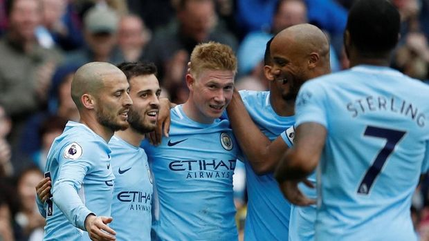 Manchester City menjadi kampiun Liga Inggris 2017/2018.