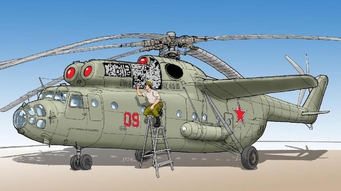teknisi TNI AU untuk Mil Mi-6