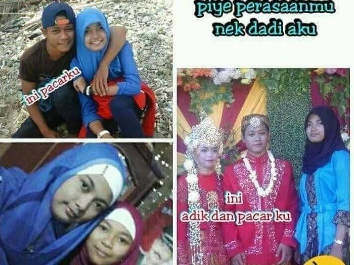 Mantan pacar menikahi adiknya sendiri. Foto: Instagram @drama.sosialmedia