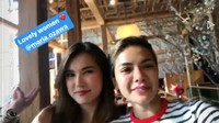 Sebelum pulang ke Tanah Air, Nikita juga menyempatkan diri untuk bertemu sahabatnya, Miyabi di Manilla. (Dok. Instagram/nikitamirzanimawardi_17)