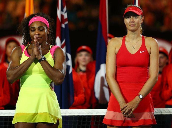 Maria Sharapova tak bisa berteman dengan Serena Williams. (Foto: Cameron Spencer/Getty Images)