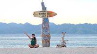Melinda saat berada di Gili, Lombok