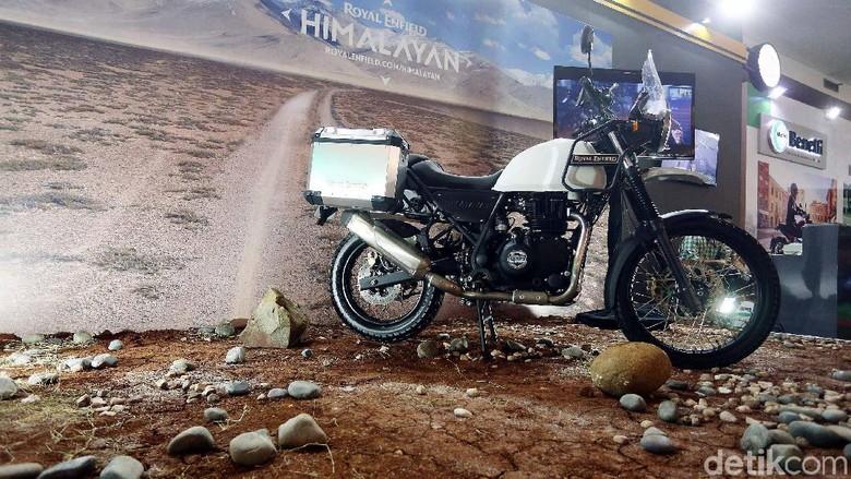 Motor Royal Enfield Himalayan yang akan dipakai touring IMBI ke Himalaya Foto: Rengga Sancaya