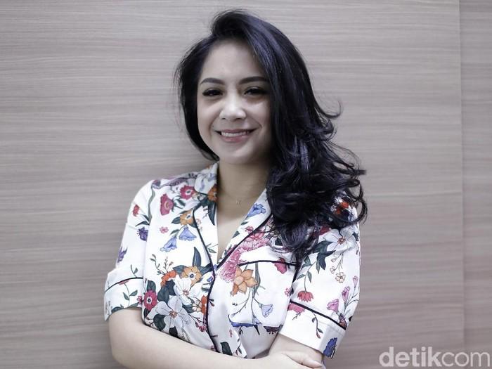 Nagita Slavina saat berkunjung ke kantor detikHOT.