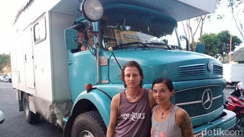 Keluarga Austria keliling dunia mampir di Indonesia (Ardian/detikTravel)