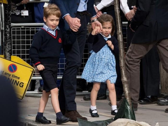 Pangeran George dan Putri Charlotte. Foto: Getty Images