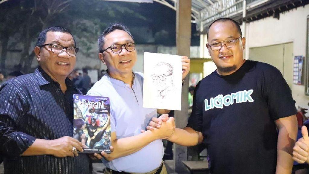 Ke Tulungagung, Ketua MPR Temui Eks Komikus Marvel Aksi 212