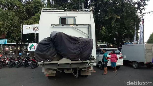 Bagian belakang truk