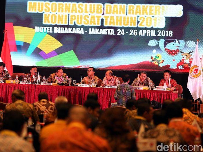 Munaslub KONI Pusat memutuskan Aceh-Sumut jadi tuan rumah PON 2024 (Rengga Sancaya/detikSport))