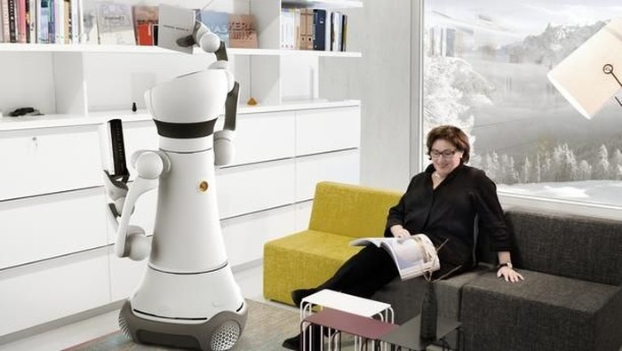 Ilustrasi robot di rumah. Foto: silicon-saxony