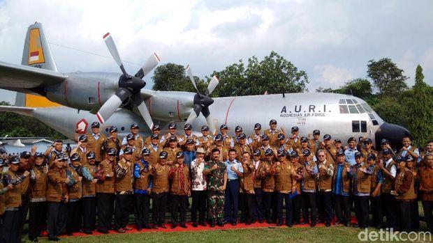 Panglima TNI meresmikan 4 pesawat koleksi baru Museum Pusat TNI AU Dirgantara Mandala Yogyakarta dan Museum Engine R.Ahmad Imanullah.