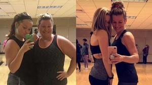 Wow! Transformasi Ibu dan Anak Olahraga Bersama Pangkas Total 83 Kg