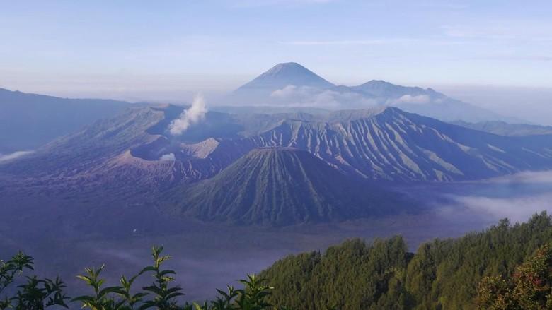 Gunung Bromo, salah satu keindahan alam di Pulau Jawa (Kurnia/detikTravel)