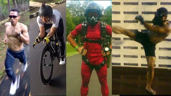 Olahraga Sparko menggabungkan konsep beberapa jenis olahraga yang pada dasarnya memang diperuntukkan untuk prajurit Kopassus. (Foto: Instagram/eka_wira_kingofsparko)