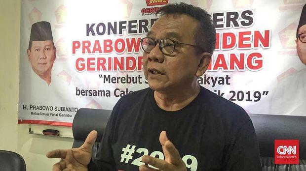 Katua DPD Jakarta Partai Gerindra M Taufik.