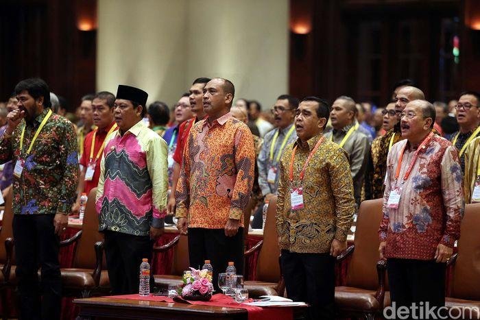 Musornaslub ini diantaranya membahas penetapkan calon tuan tumah Pekan Olahraga Nasional (PON) ke-21 tahun 2024.
