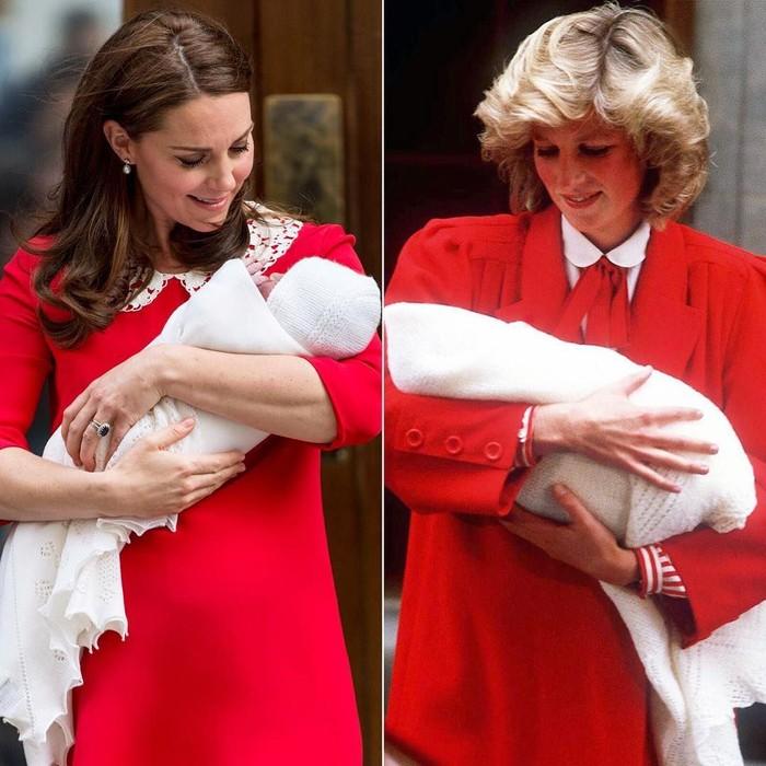 Kate Middleton dan Putri Diana Pasca Melahirkan, Sama-sama Pakai Gaun Merah. Foto: Dok. Getty Images