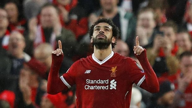 Mohamed Salah tampil luar biasa saat mencetak empat gol ke gawang Watford.