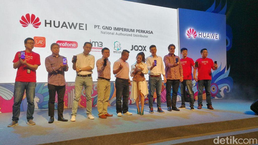 Suasana peluncuran Huawei Nova 2 Lite oleh para petinggi Huawei di Jakarta. Foto: Muhammad Alif Goenawan/detikinet