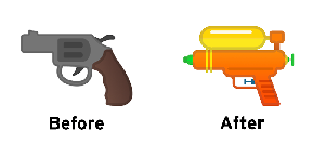 Google Akhirnya Hilangkan Emoji Pistol