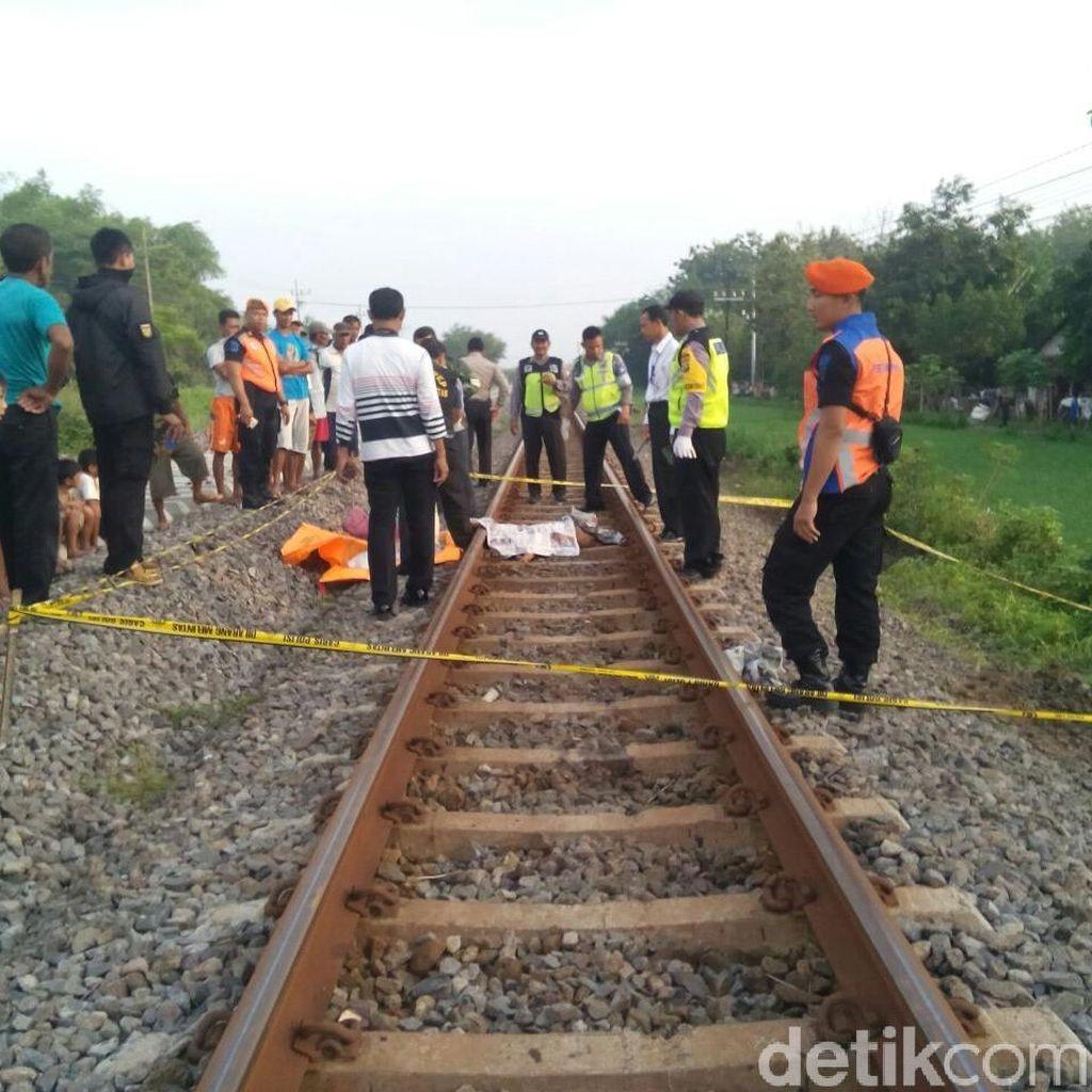Tubuh Seorang Wanita Tercerai Berai Tertabrak Kereta Api di Madiun