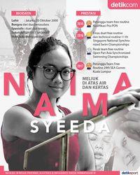 Atlet Renang Indah Naima Syeeda Dalam Info Grafis