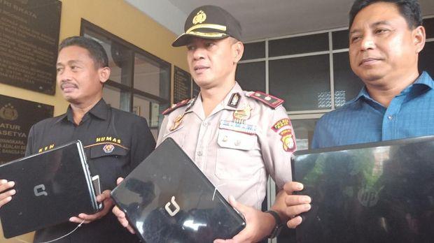 Polisi menangkap pencuri laptop di SMP Muhammadiyah 14