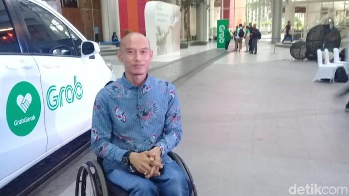 Ridwan Sumantri, pejuang hak-hak difabel yang pernah jadi atlet tenis kursi roda. Foto: Frieda Isyana Putri/detikHealth