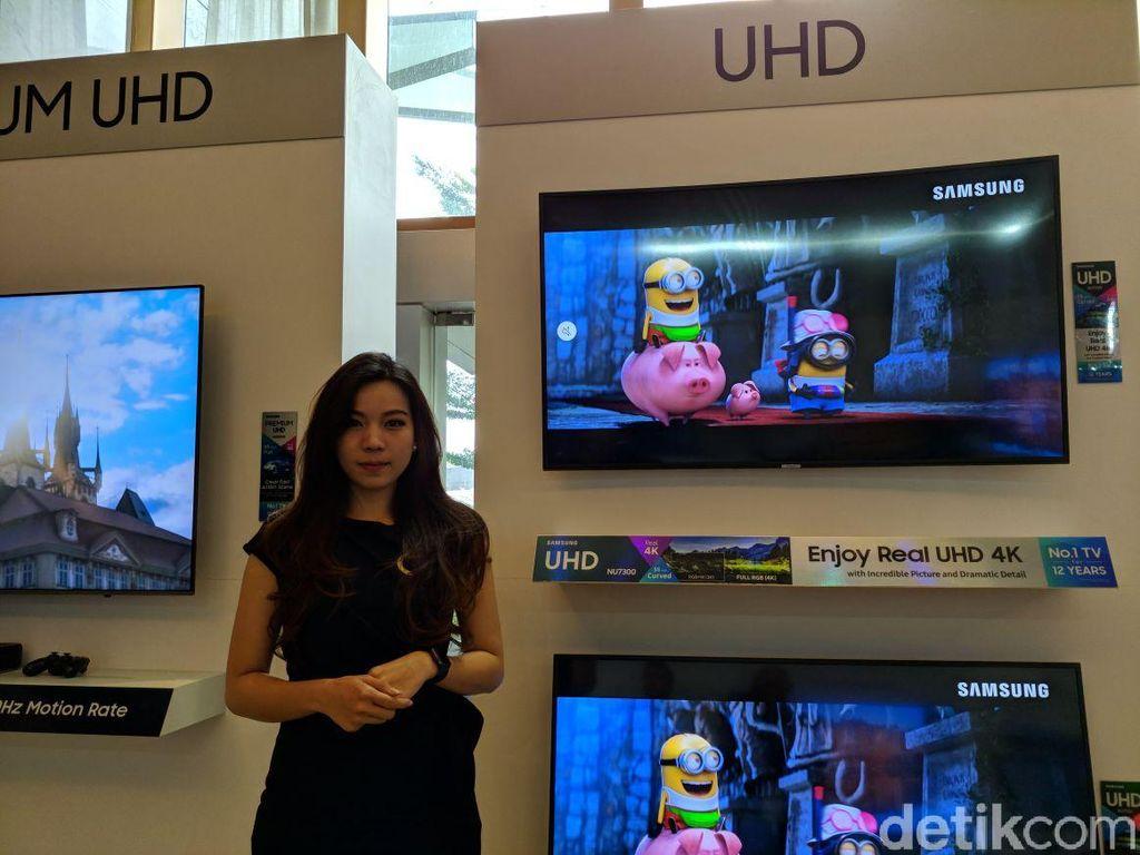 Jagoan pertama QLED TV. Foto: detikINET/Adi Fida Rahman