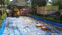 Miras Ilegal Hasil Operasi 11 Hari Dimusnahkan Polres Malang