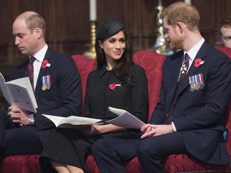 Pangeran William, Meghan Markle dan Pangeran Harry. Foto: Dok. Getty Images