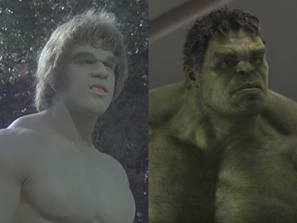 Penampilan Hulk pada tahun 1978 dibandingkan masa sekarang yang sangat berbeda. Foto: Business Insider