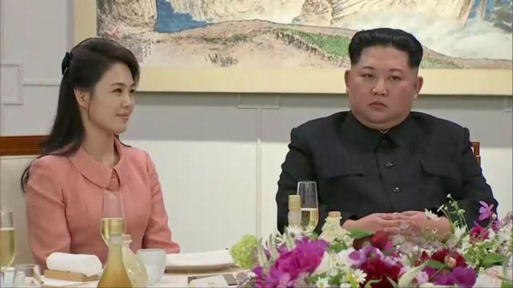 Istri Kim Jong Un, Ri Sol Ju (REUTERS TV  THIRD PARTY)